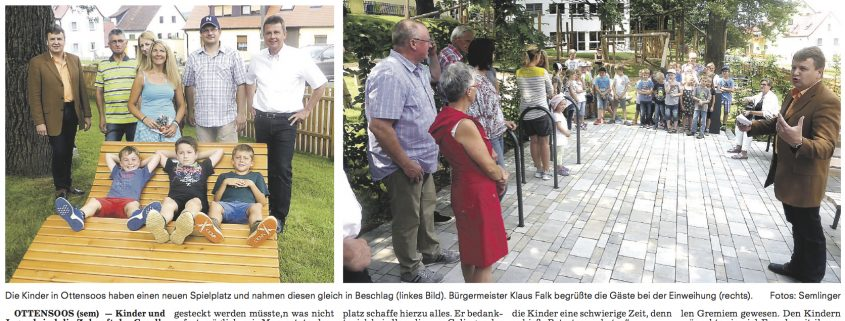 Spielplatz Ottensoos Einweihung PZ
